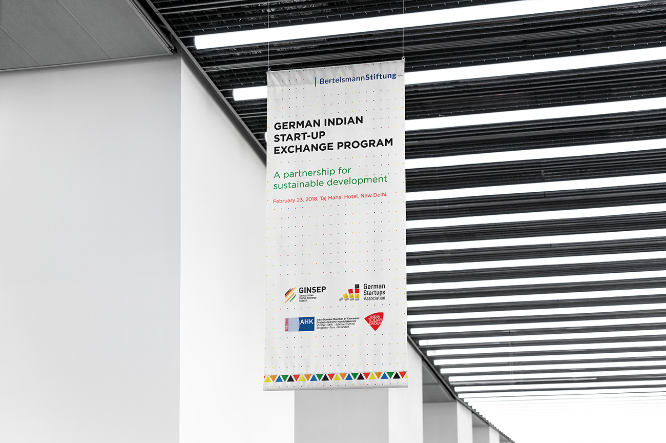 The German Indian Startup Exchange Program Banner