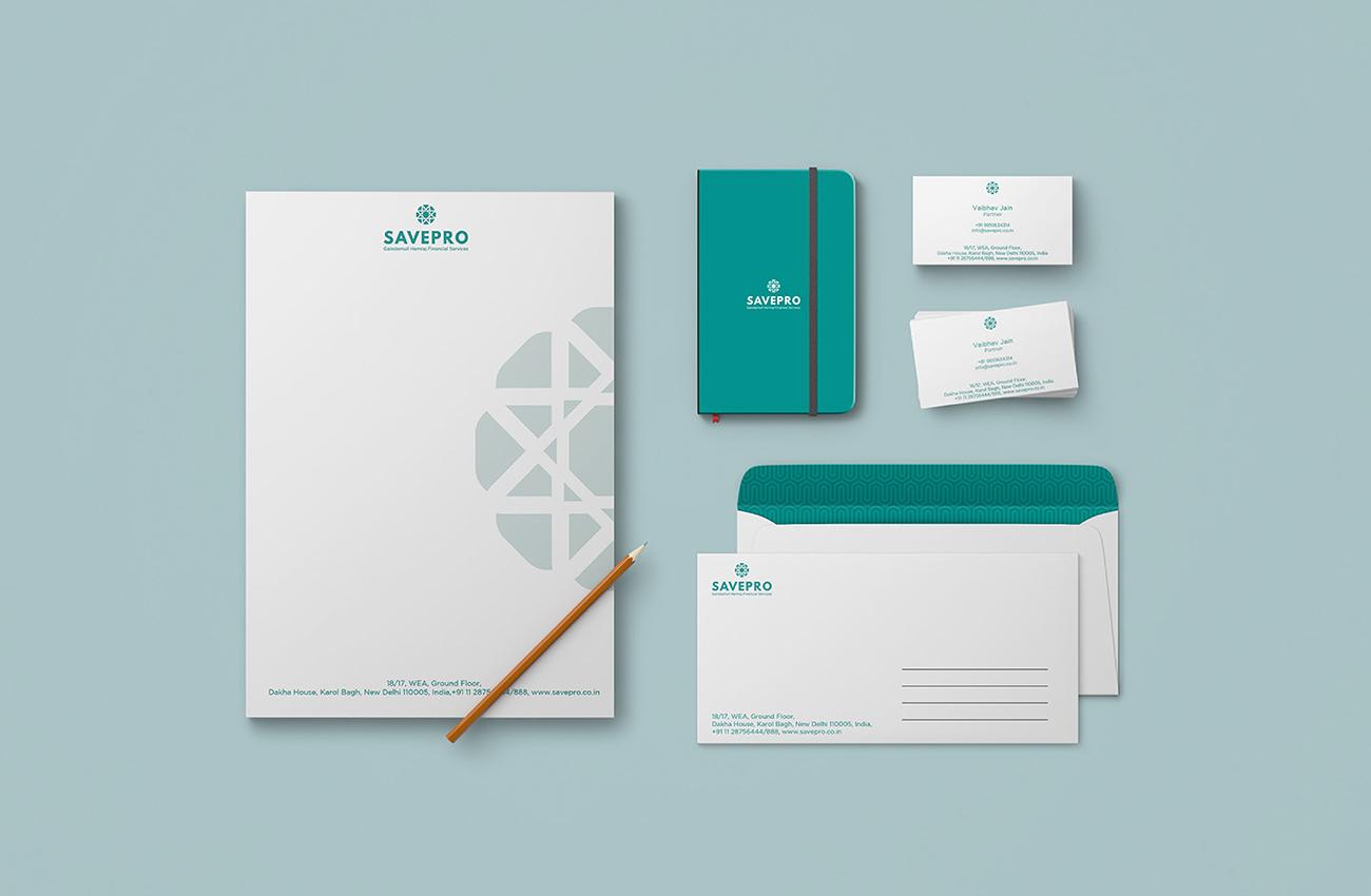 Savepro Stationery Design