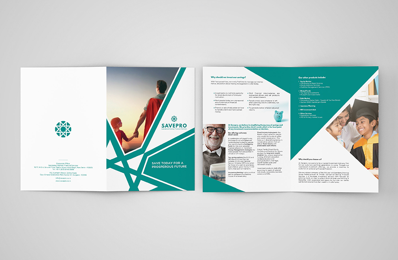 Savepro Brochure Design